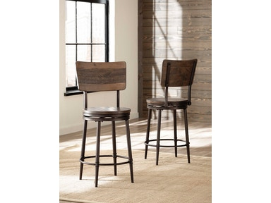 Hillsdale Furniture Jennings Swivel Counter OR Bar Stool 4022-826