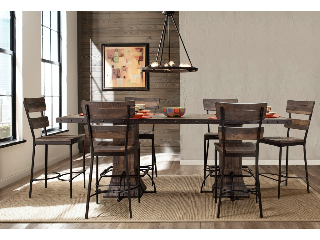 Hillsdale furniture bar and game room jennings 7 piece for 7 piece dining room set counter height