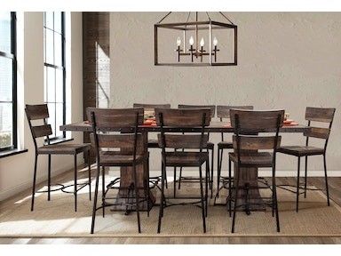 hillsdale furniture bar and game room jennings rectangle counter height dining table 4022cdtbr. Black Bedroom Furniture Sets. Home Design Ideas