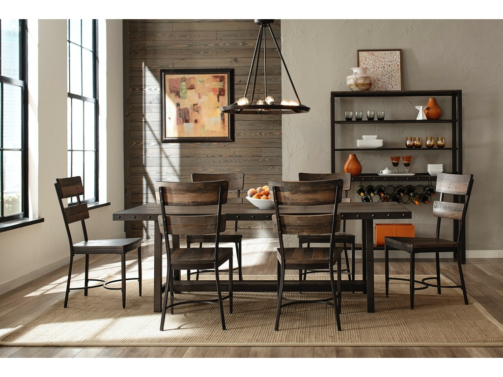 Hillsdale furniture dining room jennings 7 piece dining set 4022dtb7pc american factory direct - Dining rooms direct ...