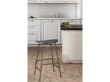 Hillsdale Furniture Mitchell Non-Swivel Backless Bar Stool 4032-831