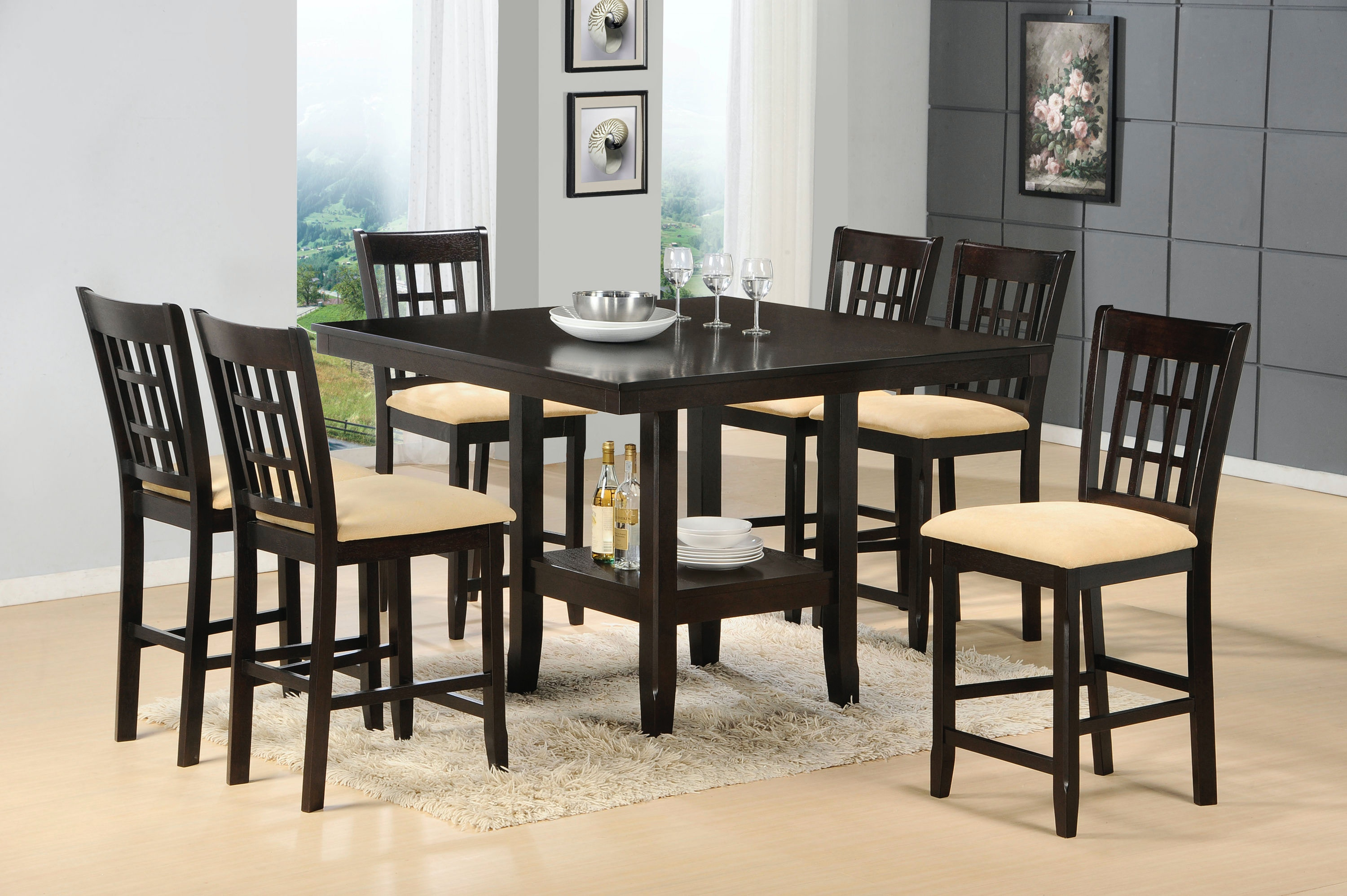 Hillsdale Furniture Tabacon 7 Piece Dining Set 4155DTBGS7