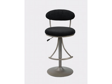 Hillsdale Furniture Venus Swivel Bar Stool - Black Suede 4210-824H