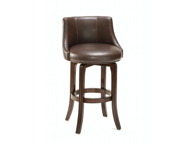 Hillsdale Furniture Napa Valley Swivel Counter Stool - Brown Leather 4294-827I
