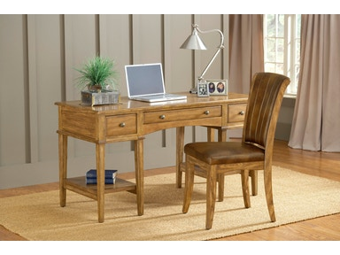 Hillsdale Furniture Gresham Desk and Chair - Medium Oak 4337GD