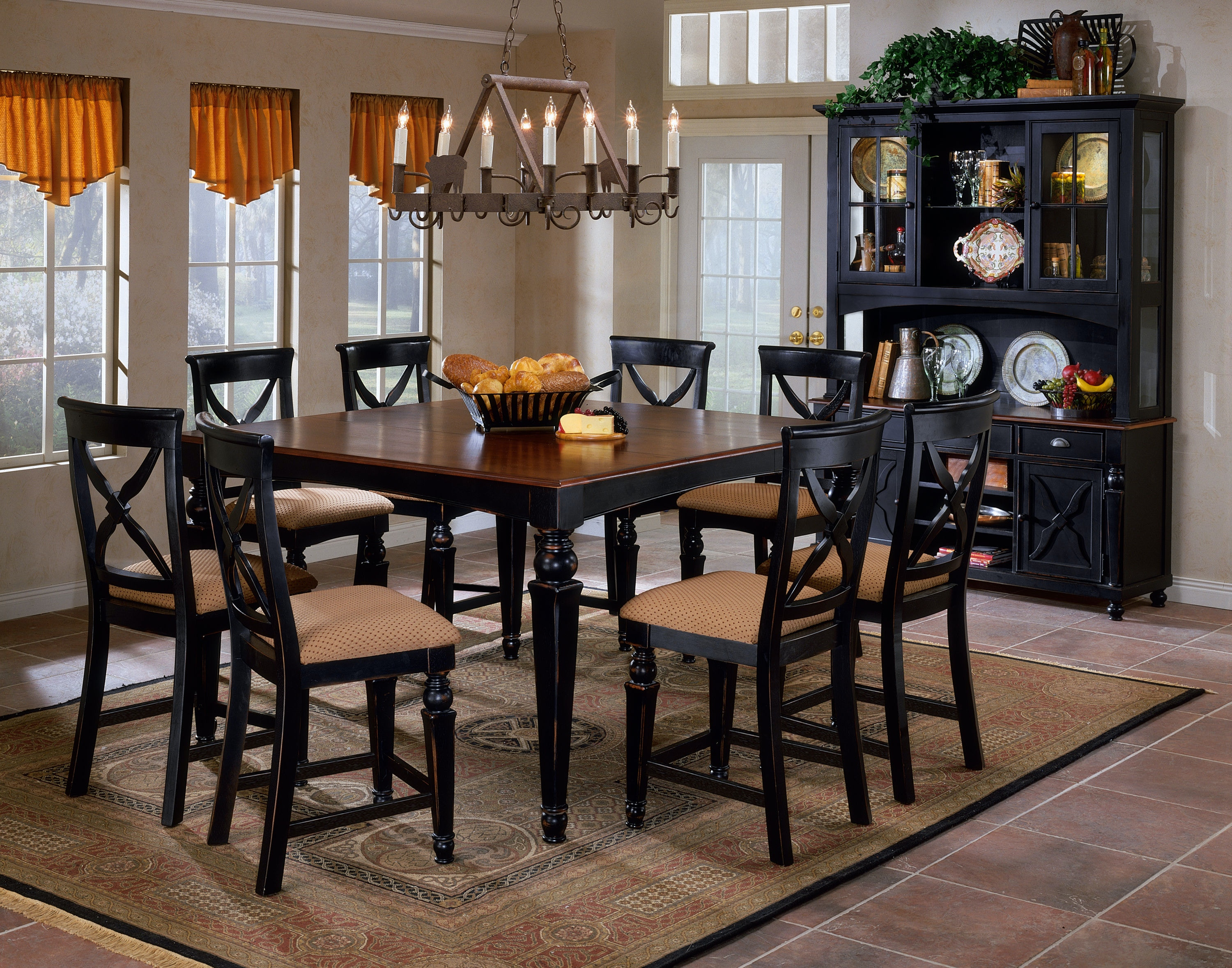Hillsdale Furniture Northern Heights 5 Piece Counter Height Dining Set  4439DTBSG ...
