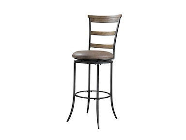 Hillsdale Furniture Charleston Swivel Ladder Back Counter Stool 4670-828