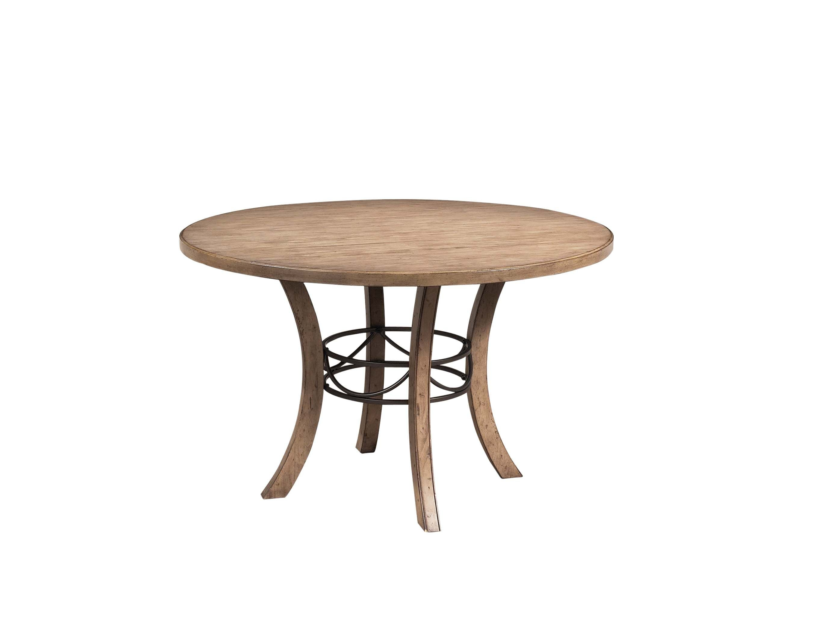 Hillsdale Furniture Dining Room Charleston Round Wood Table With Metal Ring  4670DTBW   Carol House Furniture   Maryland Heights And Valley Park, MO