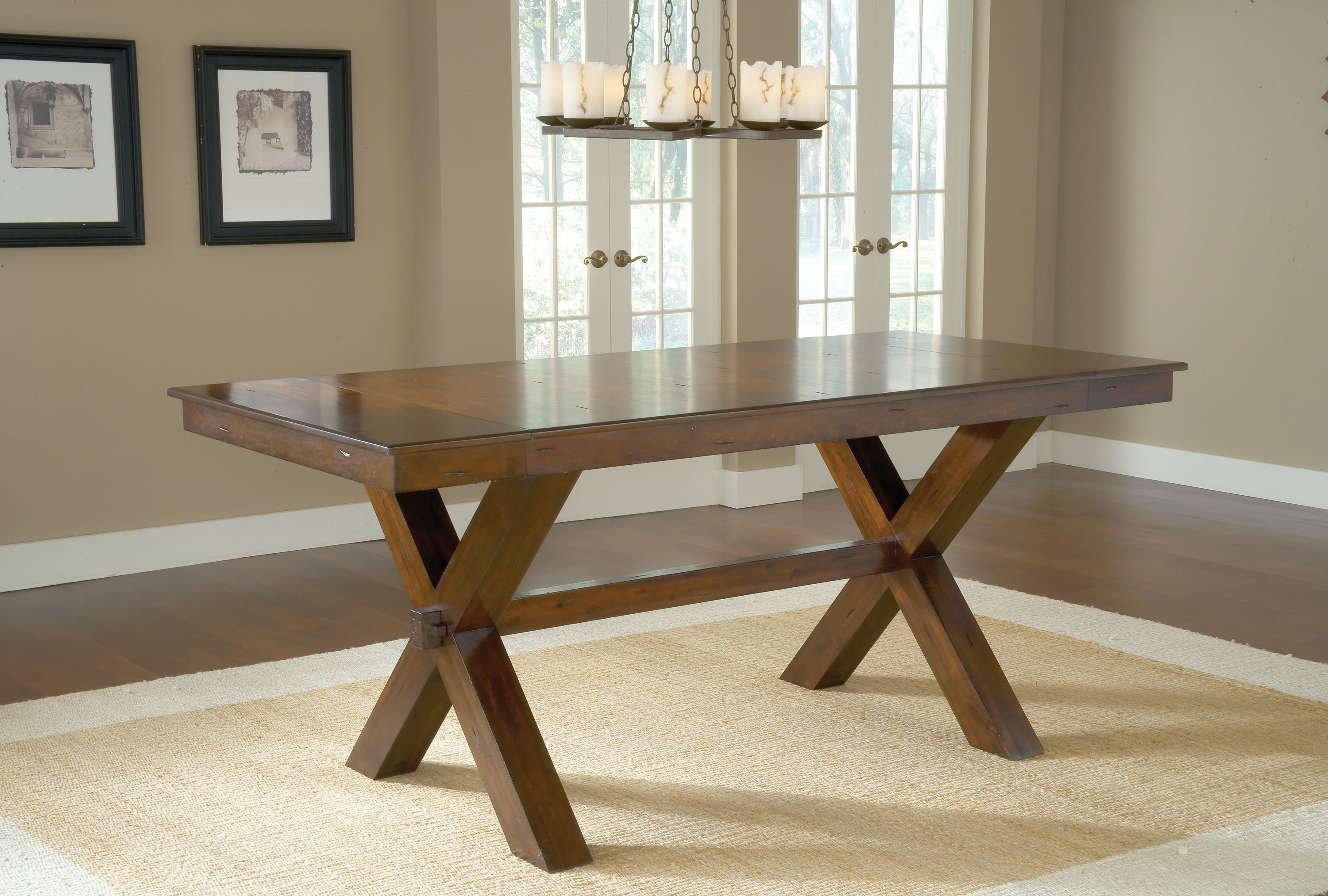 Charmant Hillsdale Furniture Bar And Game Room Park Avenue Counter Height Trestle  Dining Table   Base 4692 836 At D Noblin Furniture
