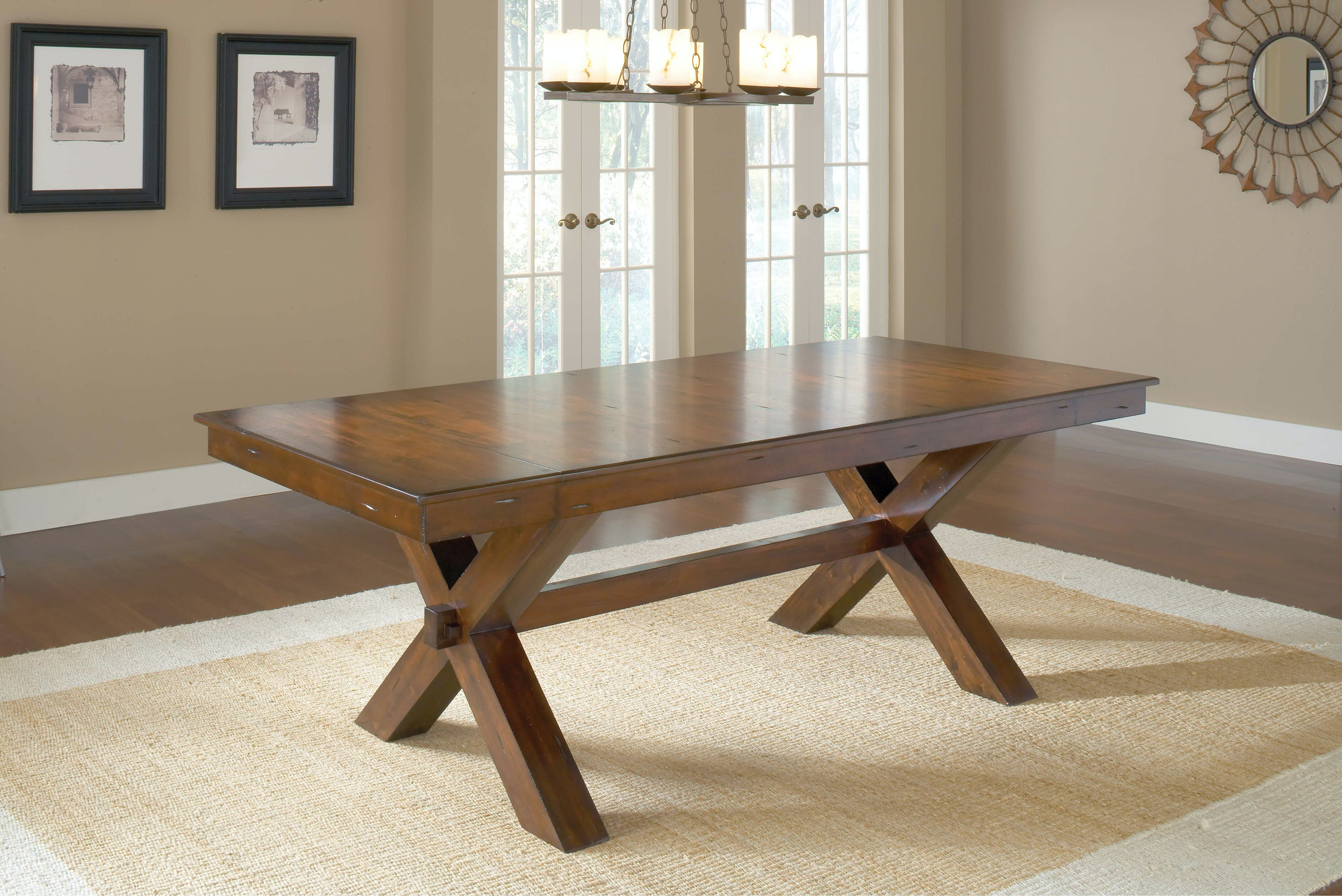Incroyable Hillsdale Furniture Dining Room Park Avenue Trestle Dining Table   Base  4692 813 At Carol House Furniture
