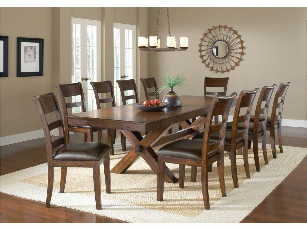 Dining room park avenue trestle table 4692dtb osmond for Park avenue designs