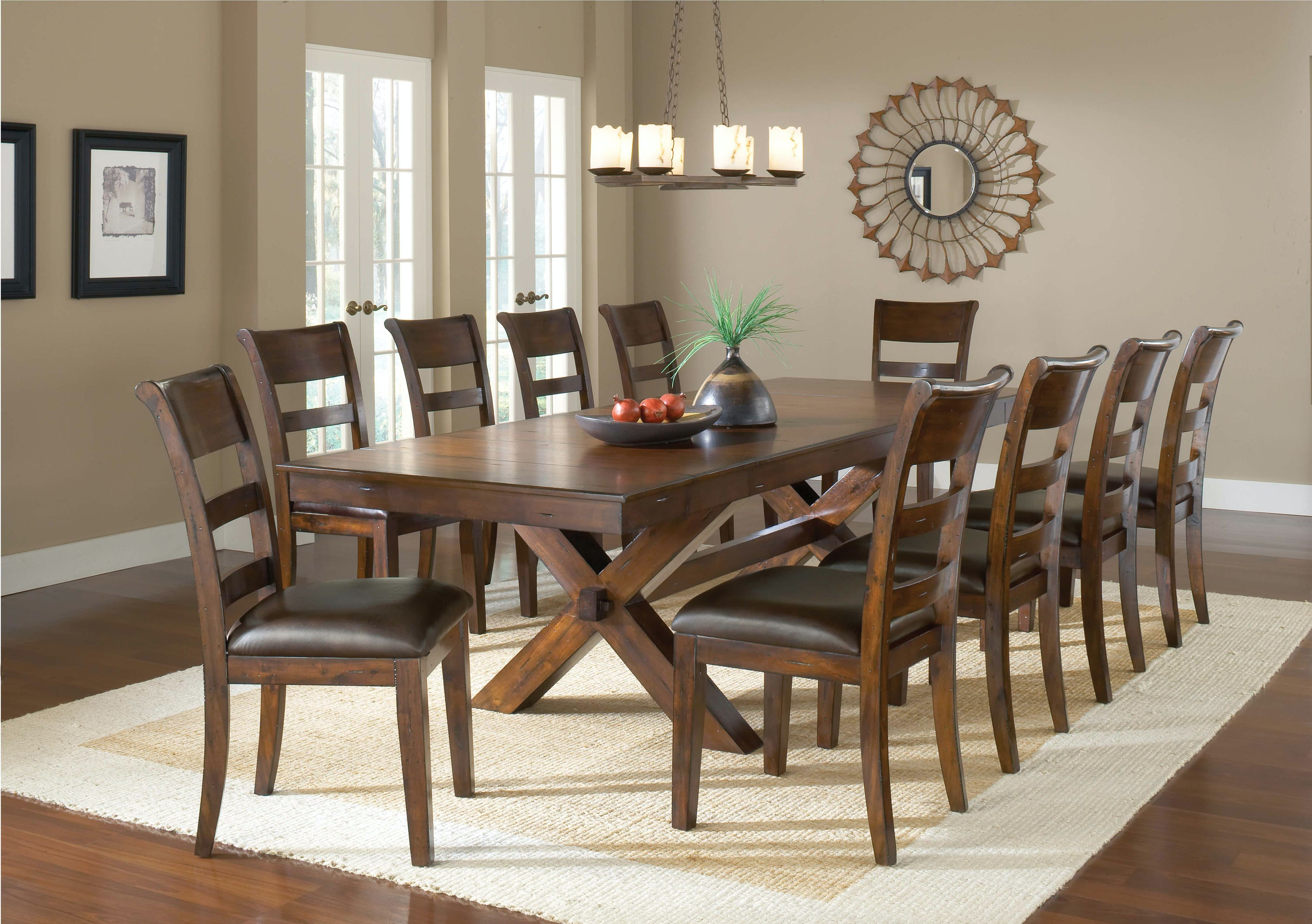 Bon Hillsdale Furniture Park Avenue Trestle Table 4692DTB