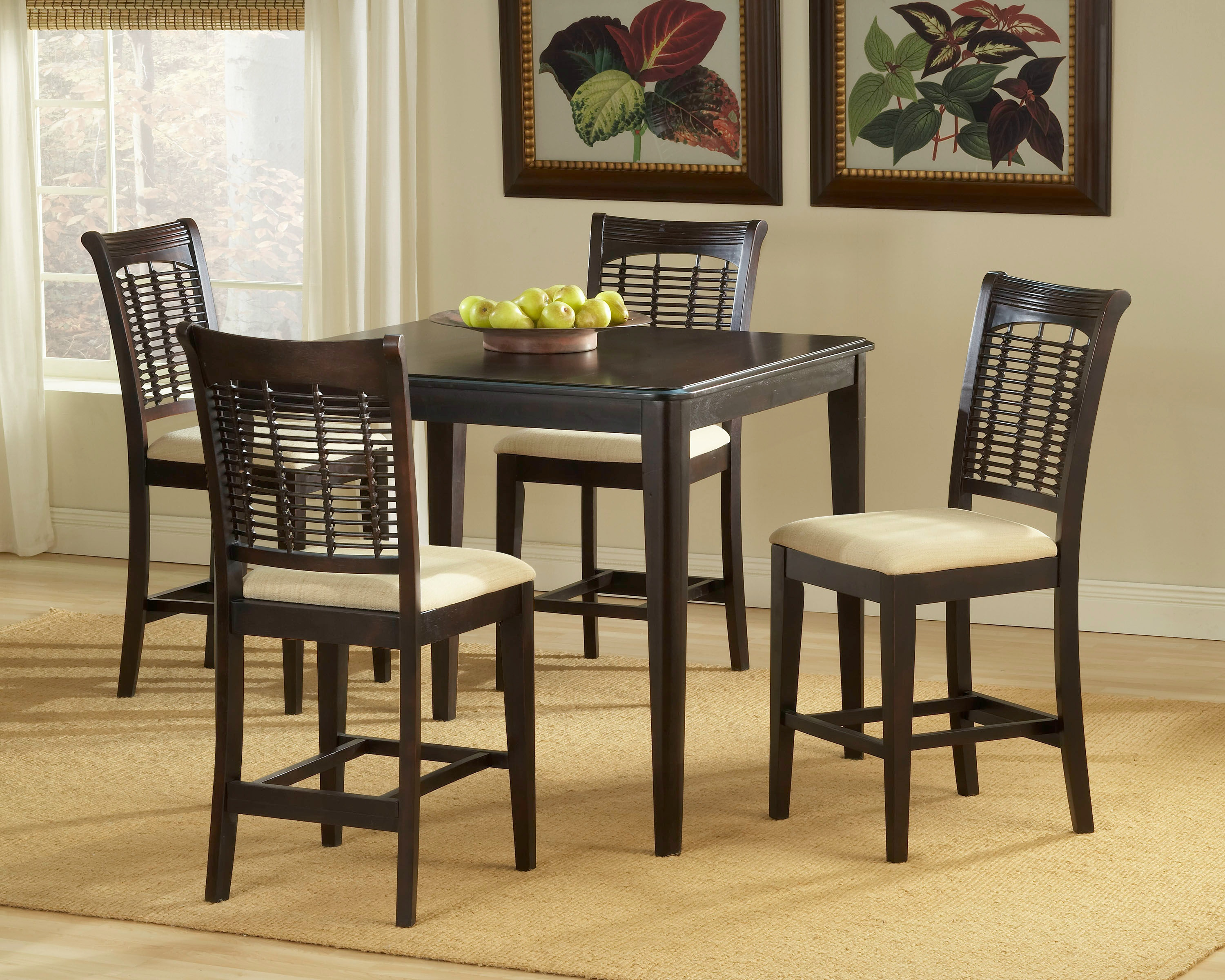 Hillsdale Furniture Bar And Game Room Bayberry 5 Piece Counter Height Dining  Set   Dark Cherry 4783DTBSG   Watts Furniture Galleries   LaGrange, GA
