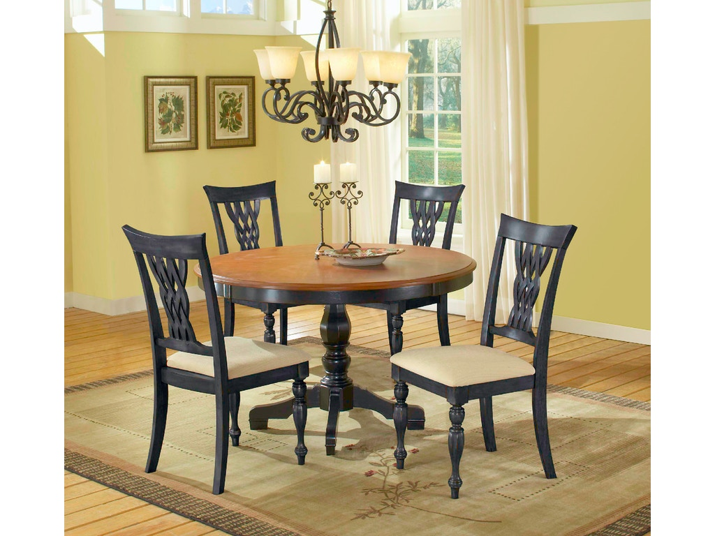 Hillsdale Furniture Dining Room Embassy Round Pedestal Dining Table 4808dtb48 Carol House