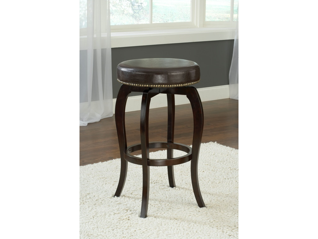 Hillsdale Furniture Wilmington Backless Swivel Counter Stool Brown Vinyl 4933 828 James