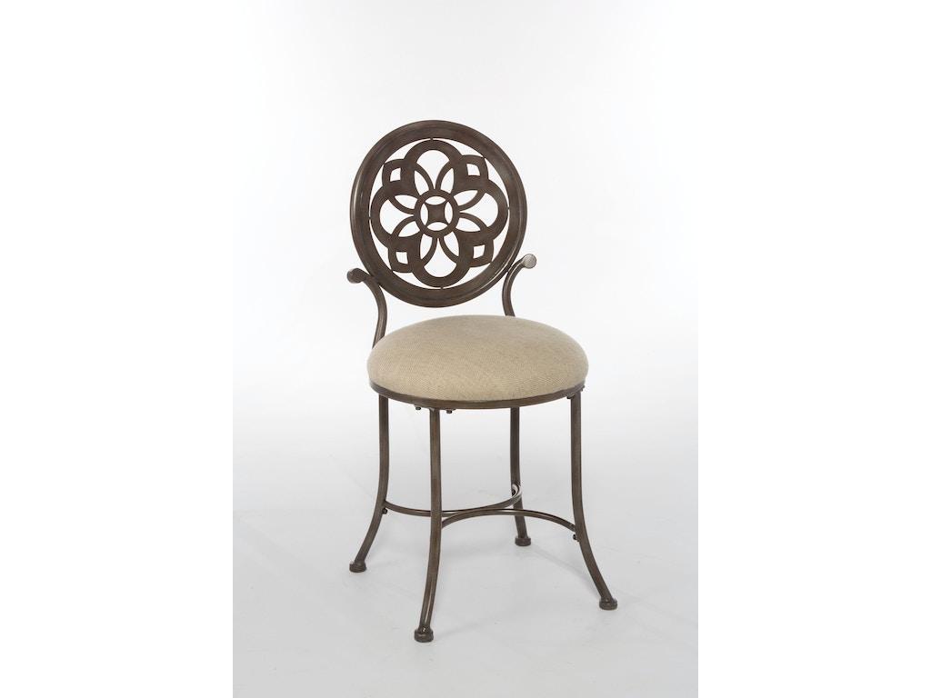 Hillsdale furniture bedroom marsala vanity stool 50981 seaside furniture toms river brick - Bedroom vanity chair with back ...