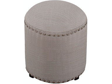Hillsdale Furniture Laura Backless Vanity Stool - Gray Fabric 50993