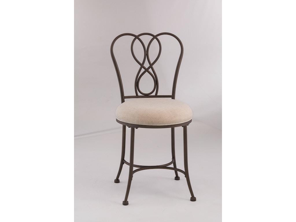 Hillsdale furniture bedroom christina vanity stool 50994 davis furniture poughkeepsie ny - Bedroom vanity chair with back ...