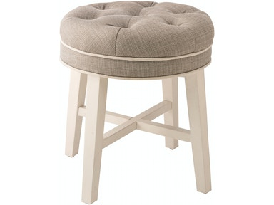 Hillsdale Furniture Sophia Vanity Stool with Linen Gray Fabric 51007