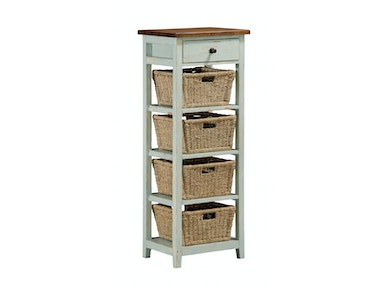 Hillsdale Furniture Tuscan Retreat® (4) Four Basket, 1 Drawer Open Side Stand 5362-942W