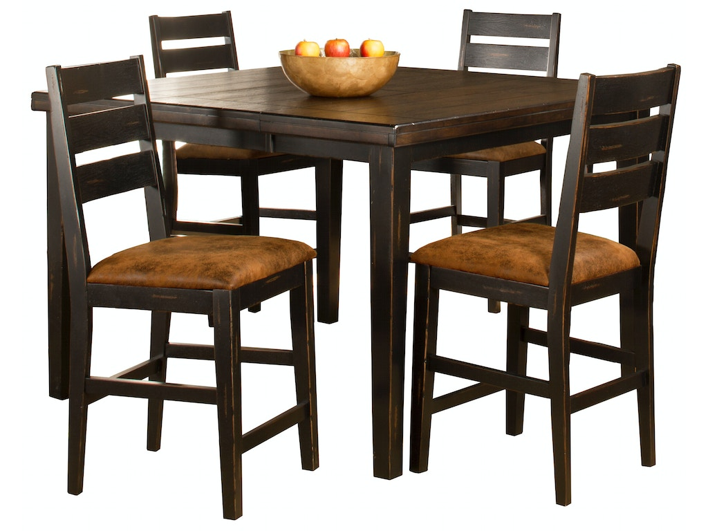 Counter Height Ladder Back Chairs : and Game Room Killarney 5-Piece Counter Height Dining with Ladder Back ...