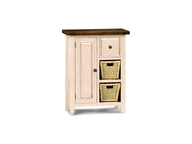 Hillsdale Furniture Tuscan Retreat ® Coffee Cabinet with 2 (Two) Shelf/Baskets - Country White Finish 5465-1024W