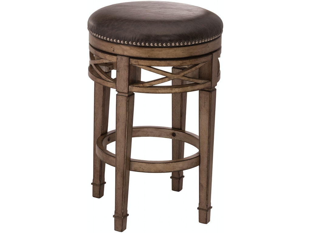 Hillsdale Furniture Bar And Game Room Chesterfield Backless Swivel Counter Stool 5609 826