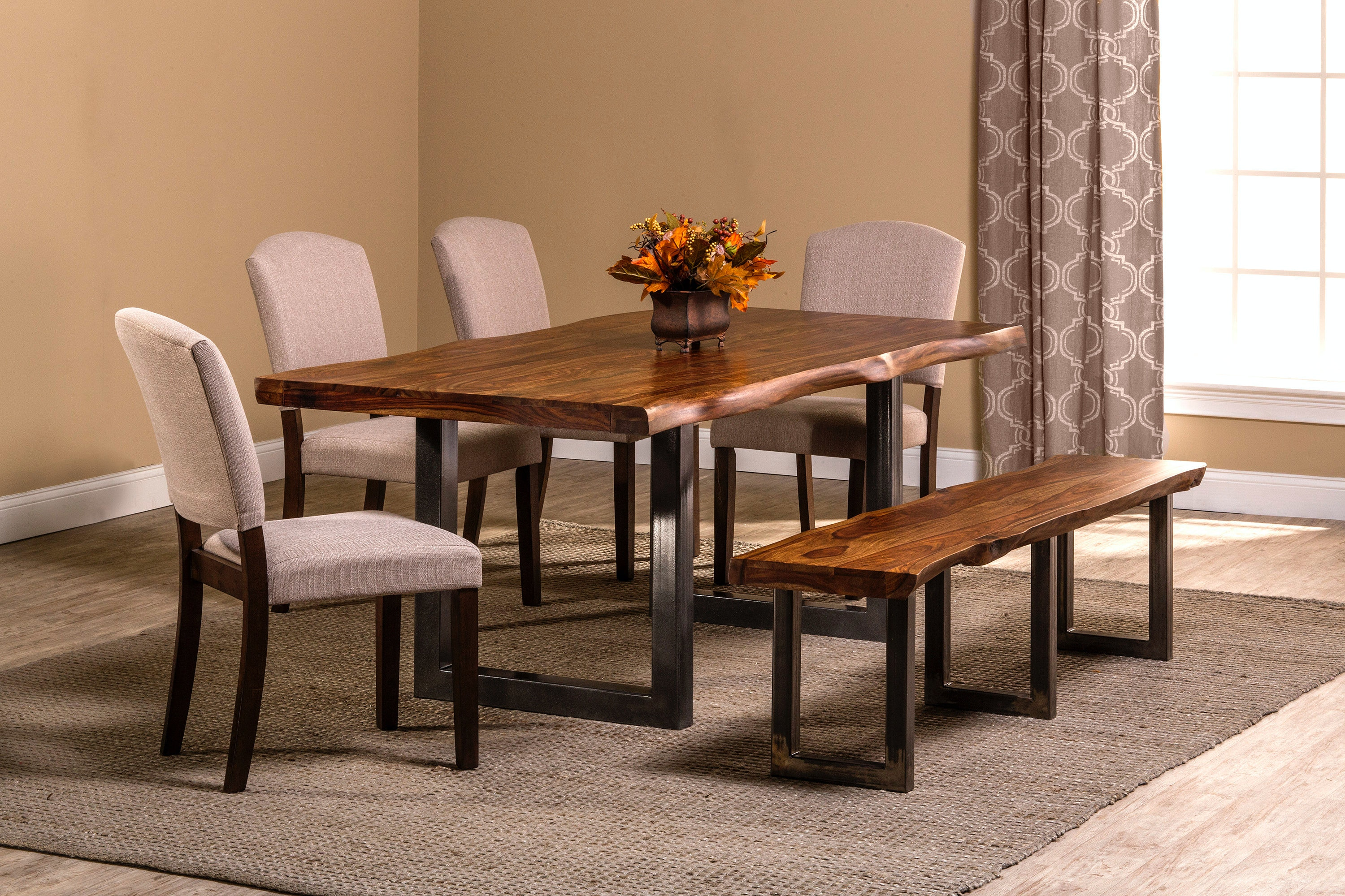 Hillsdale Furniture Emerson 6 Piece Rectangle Dining Set With One (1) Bench  And ...