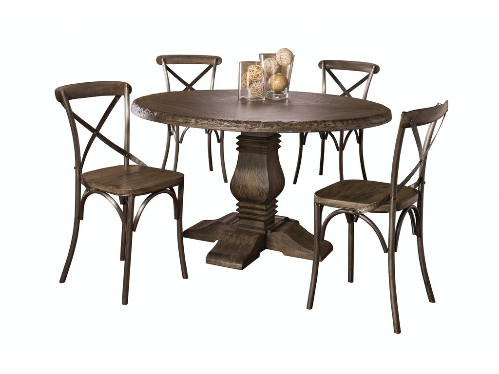 Hillsdale Furniture Dining Room Lorient Round Dining Table – Hillsdale Dining Chairs
