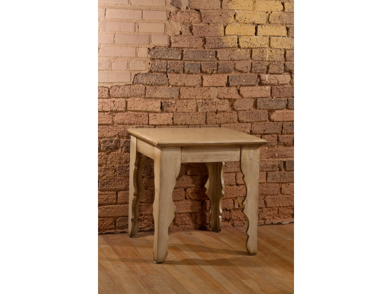 Hillsdale Furniture Keegan End Table - Distressed Antique White Finish  5727-907 - Hillsdale Furniture Living Room Keegan End Table - Distressed