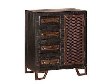 Hillsdale Furniture Bridgewater Accent Cabinet - Rubbed Black 5806-896B