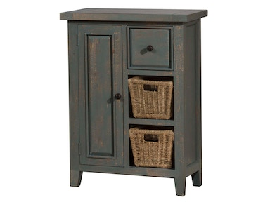 Hillsdale Furniture Tuscan Retreat ® Coffee Cabinet with (2) Two Shelves and Baskets 5834-1024W