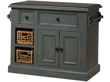 Hillsdale Furniture Tuscan Retreat ® Medium Kitchen Island with (2) Two Baskets 5834-1039W
