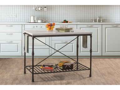 Hillsdale Furniture Castille Metal Kitchen Island 5976-880