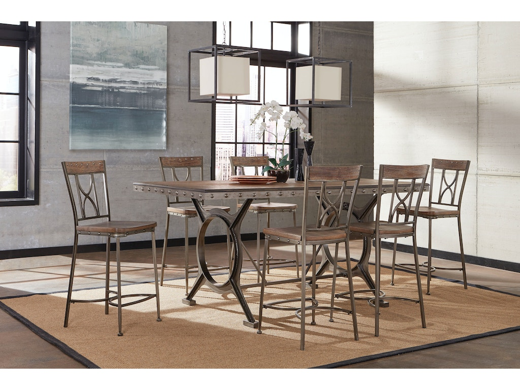 Bar and game room paddock 7 piece counter height dining for 7 piece dining room set counter height