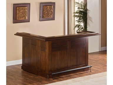 Hillsdale Furniture Classic Large Brown Cherry Bar with Side Bar 64028XBCHE