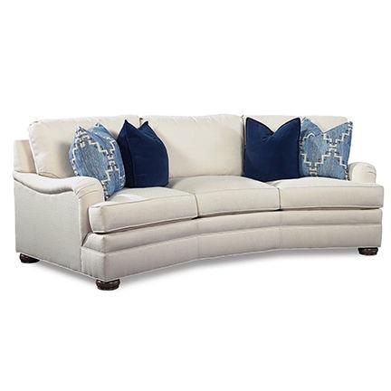 Huntington House Living Room Wedge Sofa 206128 Burke Furniture