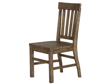 Dining Side Chair With Wood Seat And Wood Slat Back (2/Ctn)