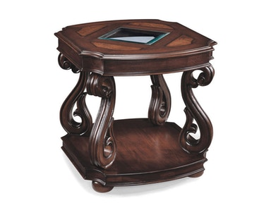 Magnussen Home Rectangular End Table T1648-03
