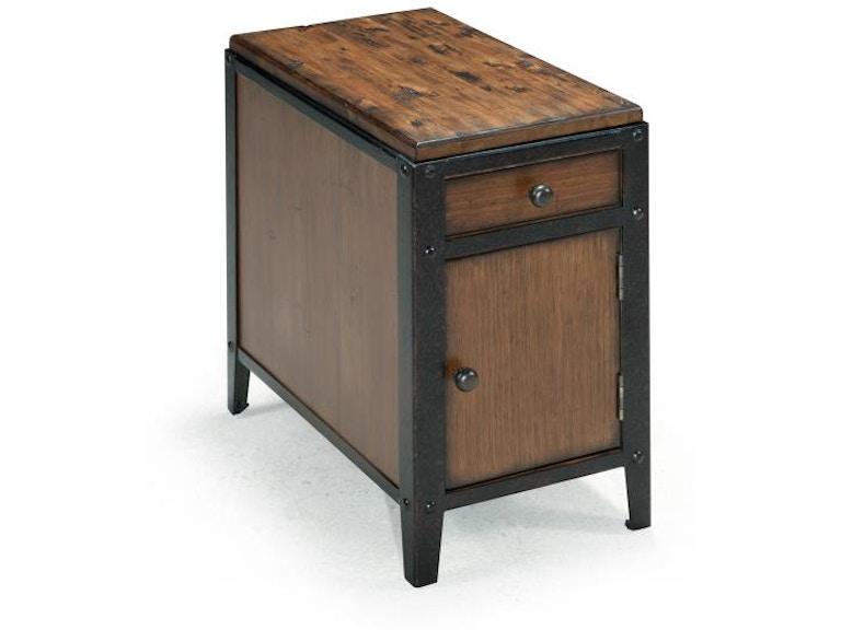 Magnussen Home Living Room Chairside Door End Table T1755 31