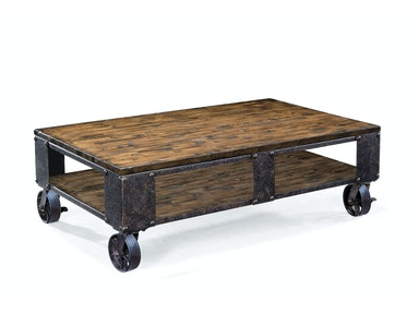 Magnussen Home Rectangular Cocktail Table (2 Braking Casters) T1755-43