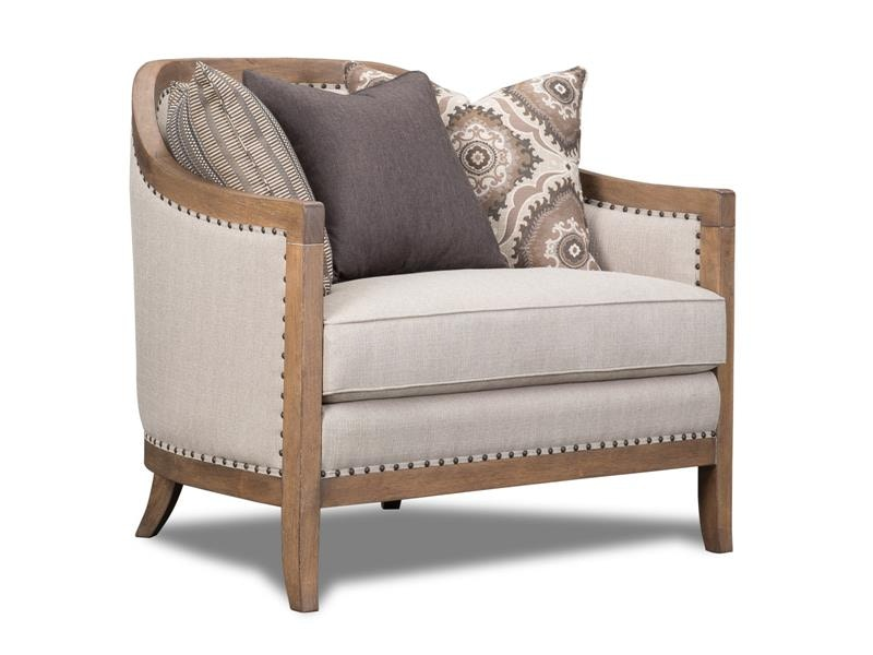 magnussen home taupe chair u343150072