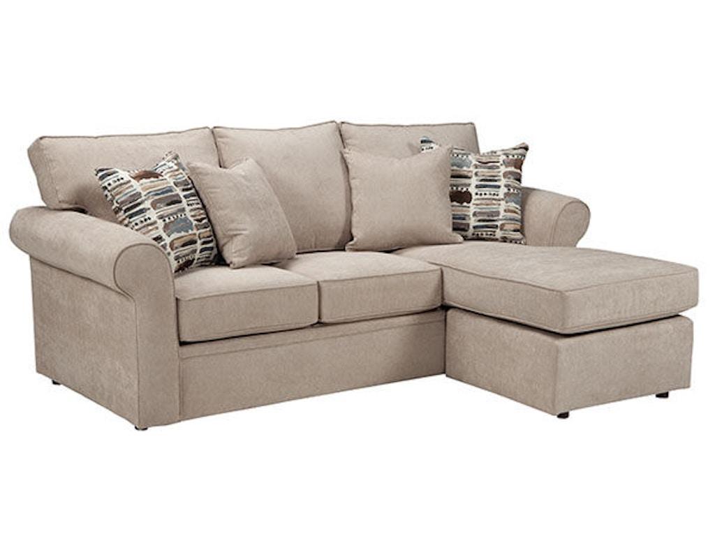 Overnight Sofa Living Room Queen Sleeper Chaise 5690 Lynchs Furniture Auburn Auburn Ny
