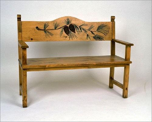 Southern Craftsmenu0027s Guild Pine Cone Bench 3504