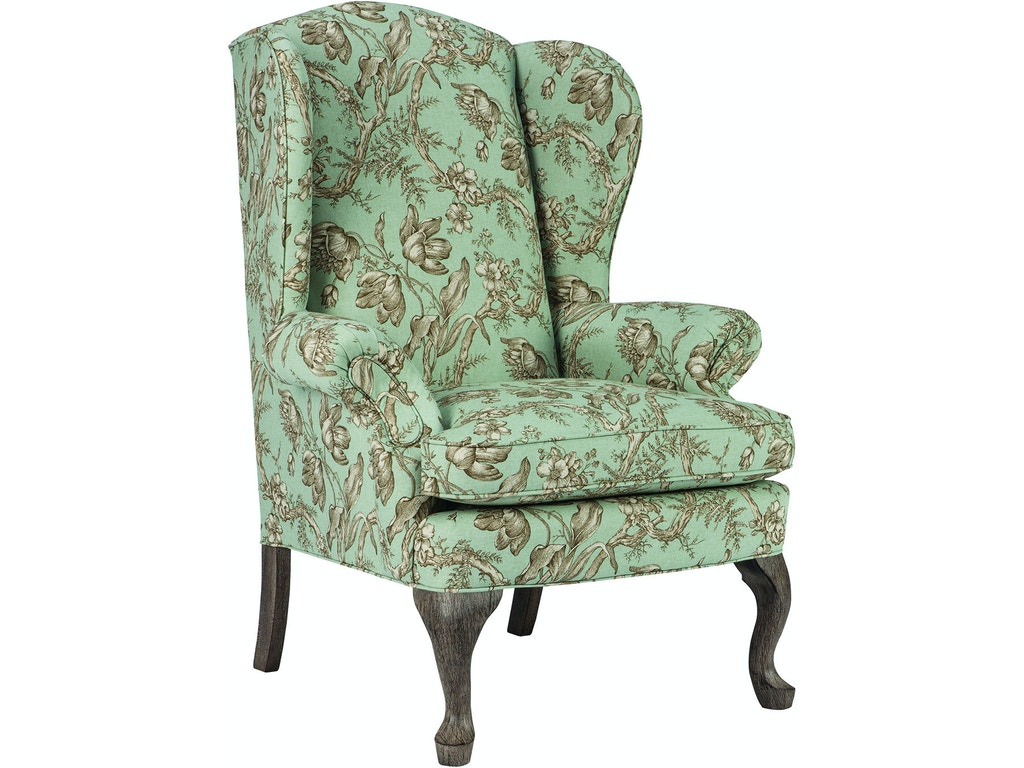 Best home furnishings living room queen anne wing chair - Queen anne style living room furniture ...