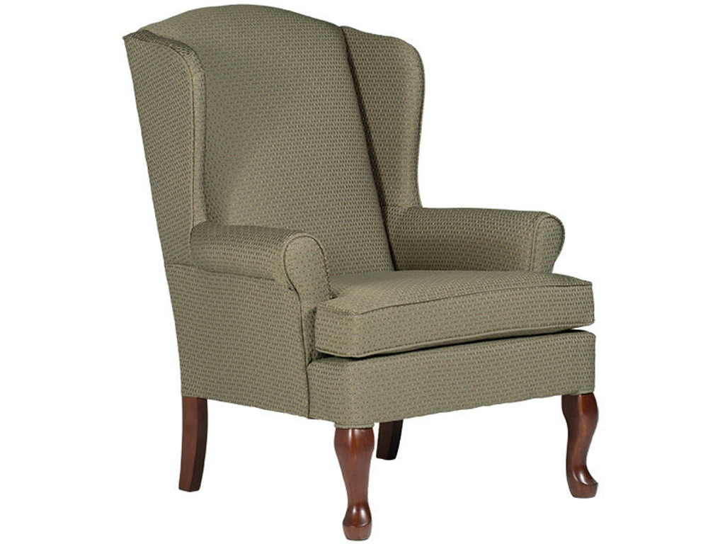 Best home furnishings living room queen anne wing chair for Wing chairs for living room