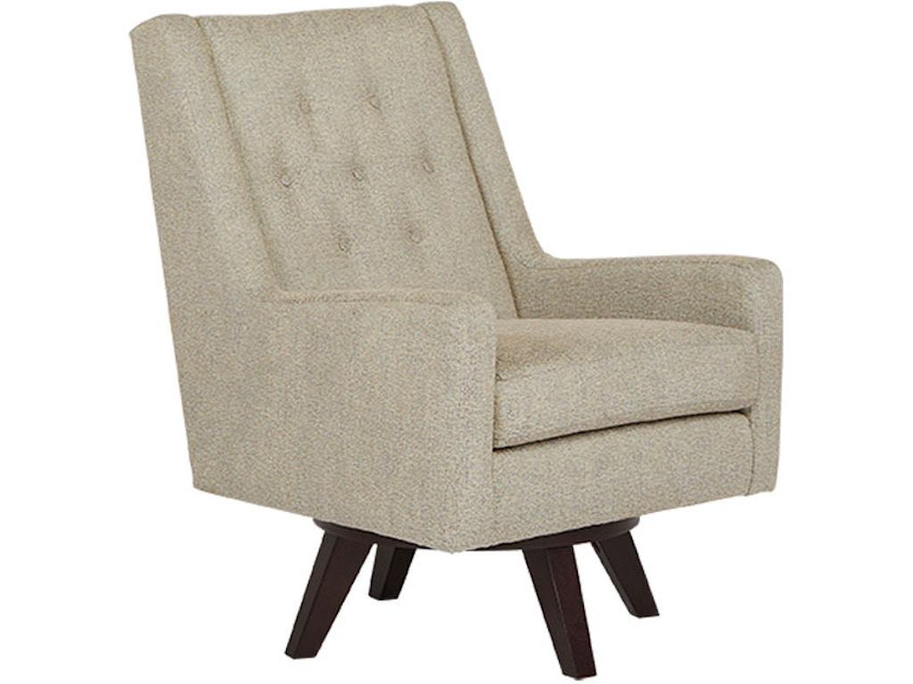 Best Home Furnishings Living Room Swivel Chair 2518