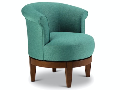 best home furnishings living room swivel chair 2958e carol house