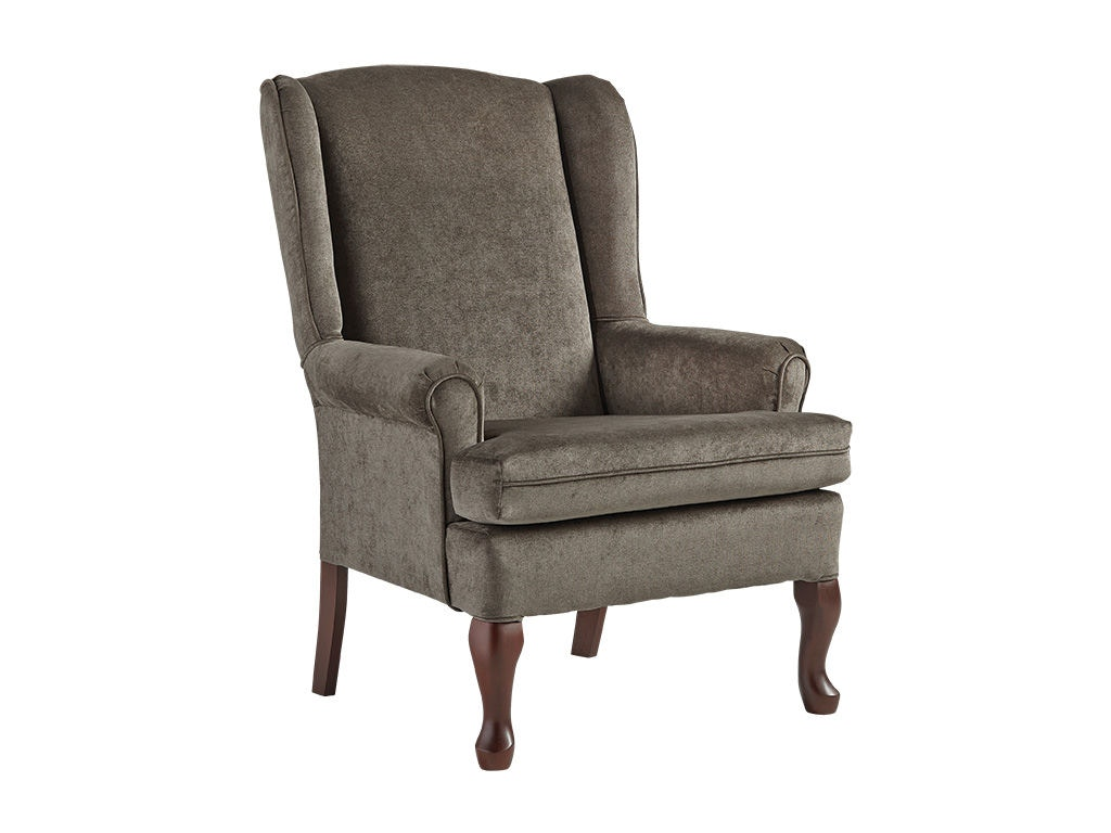 Best Home Furnishings Living Room Queen Anne Wing Chair 8000 Davis Furniture Poughkeepsie Ny