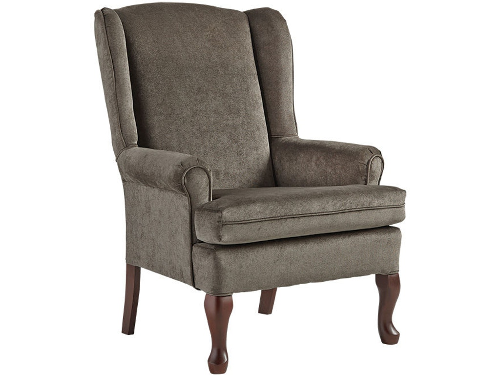 Best Home Furnishings Living Room Queen Anne Wing Chair 8000 At Bernhaus Furniture